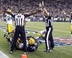 during the NFL game between the Green Bay Packers and the Seattle Seahawks at CenturyLink Field in Seattle, Washington on September 24, 2012. (Ric Tapia/NFL)