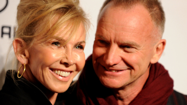Sting and his wife Trudie Style
