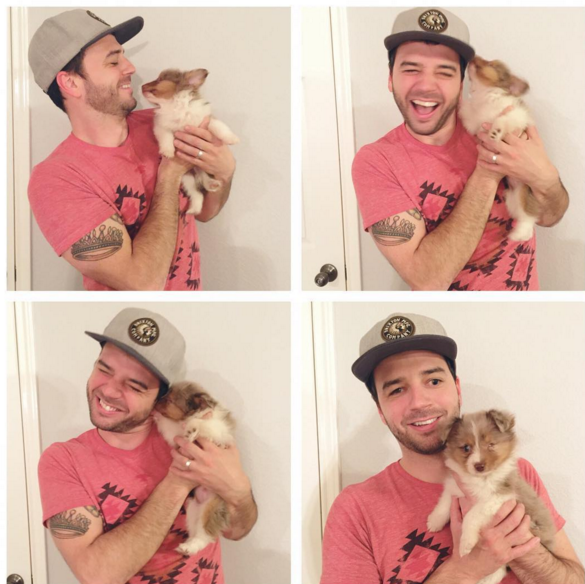 Guy Blind In Left Eye Gets Puppy With Missing Left Eye and They're Adorable!