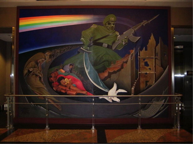 Denver airport conspiracy theories you gotta hear before for Denver mural airport