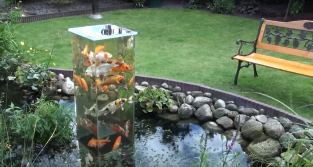 German Builds Amazing Antigravity Koi Pond Poplyft