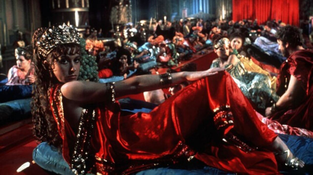 """Caligula was based on the real life exploits of the notoriously insane and lustful Roman Emperor and featured plenty of group sex, including penetration, fellatio and ejaculation. The film is called one of the most obscene mainstream movies ever, and IMDb's Parental Guide states that """"No child should ever watch it, and several adults will have trouble with it. The film's sexual content is considered pornographic in nature, with several hardcore inserts intended to sexually arouse, but really turn out to be quite disturbing."""""""