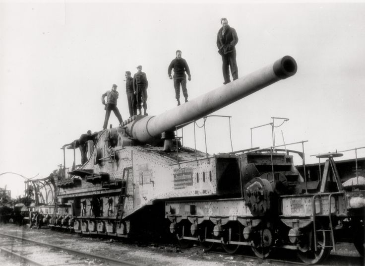 The German 240mm Rail Gun.